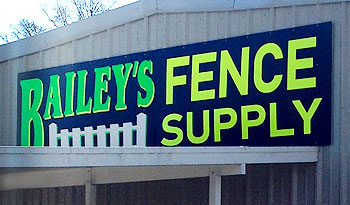 Front of Bailey Fence Building